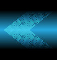 blue light line data arrow direction technology vector image