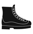 boots icon simple style vector image