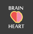 Brain and heart logo on a black colored