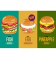 Burgers menu template vector image vector image