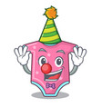 clown baby wool clothes isolated on mascot vector image vector image