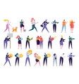 collection creative various lifestyle character vector image vector image