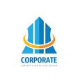 corporate business logo template design finance vector image vector image