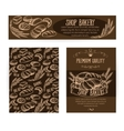 Corporate identity set design with baking and vector image