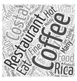 Costa Rica Lets Eat Word Cloud Concept vector image vector image