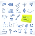 Doodle business set vector image vector image