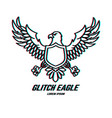 eagle sign with glitch effect design element for vector image vector image