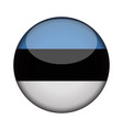estonia flag in glossy round button of icon vector image