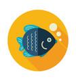 fish icon summer vacation vector image vector image
