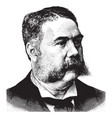 general chester a arthur vintage vector image vector image