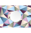 geometric handcraft colorful paper template vector image vector image