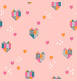 geometric hearts background abstract hearts vector image vector image