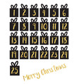 gift box set with gold foil numbers set vector image vector image