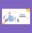 global business leadership flag landing page vector image vector image