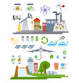green city infographic set elements vector image vector image