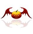 Halloween pumpkin with wings vector image vector image
