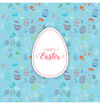 happy easter text with decorative easter egg vector image