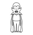 happy halloween celebration boy dracula with cape vector image
