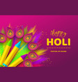 happy holi colorful design for festival of colors vector image