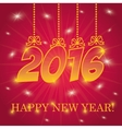 Happy new year colorful card vector image vector image
