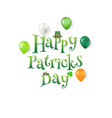 happy patrick day text vector image vector image