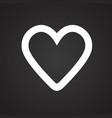 heart favorites on black background vector image
