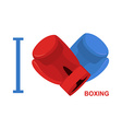 I love boxing Symbol of heart of boxing gloves vector image vector image