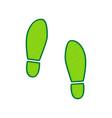 imprint soles shoes sign lemon scribble vector image