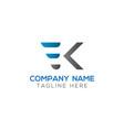 initial ek letter logo with creative modern vector image vector image