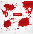 ink splatter collection vector image vector image