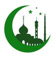 islamic mosque logo for pray mubarak ramadan vector image