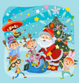 kids christmas carnival party vector image vector image