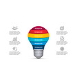 lightbulb infographic template with 6 options vector image