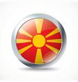 Macedonia flag button vector image