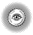magic ball with all seeing eye symbol vector image