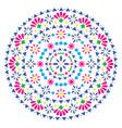 mexican mandala design folk art bohemian vector image vector image