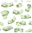 money stack dollar or currency cash vector image