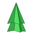 origami fir tree icon cartoon style vector image vector image