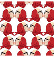 pattern with hand drawn blondes vector image vector image
