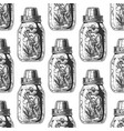 pattern with mason jar vector image vector image