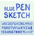 Pen sketch alphabet vector image