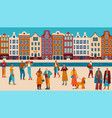 people street style flat vector image vector image