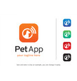 pet app logo template design vector image