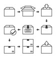pictograph delivery icons set vector image
