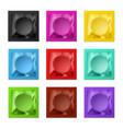 realistic colored condoms multicolored blank vector image vector image