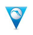 refuelling icon map pointer blue vector image vector image