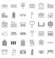 road sign icons set outline style vector image vector image