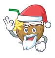 santa cocktail coconut mascot cartoon vector image vector image