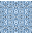 seamless geometry vintage pattern blue colour vector image vector image