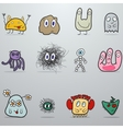 Set of monsters vector image vector image